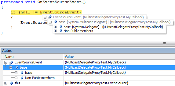 Default Event information in VS2005
